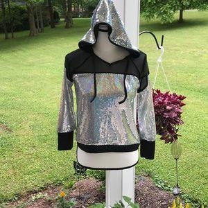 LC Weissman Girl's Dance Costume Sequin Hoodie